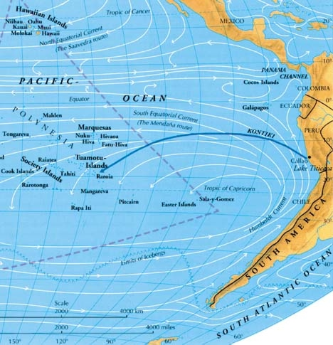 pacific ocean currents  ... start off the