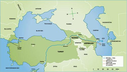 Oil Pipeline Routes