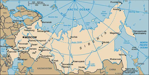 Map Of Russian Federation Showing The Republics Consisting Federation - Russian federation map