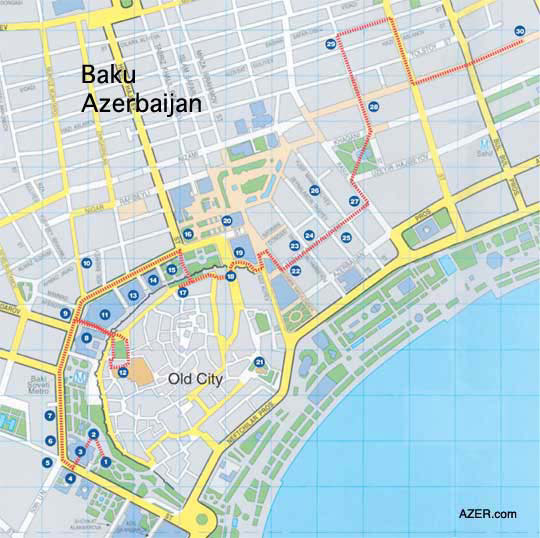 Oil Barons Historical Walking Tour in Baku Azerbaijan Ali and