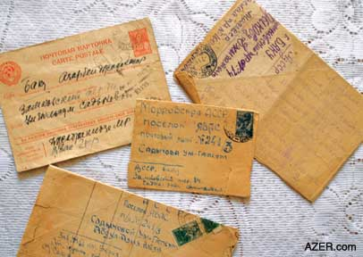 samples of the letters that ummugulsum and her family exchanged while she was in prison in
